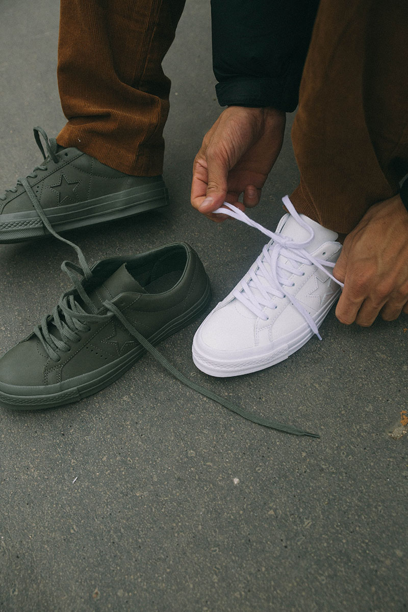 5fdcf826a9b Engineered Garments and Converse are teaming up for this cool collaboration  on the One Star silhouette. Using a premium leather on the 4 color way  (Navy