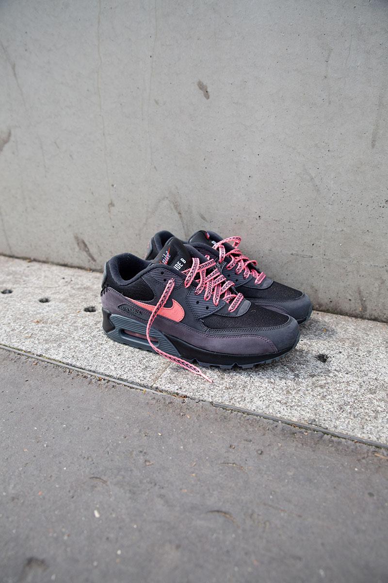 Damen Nike Air Max 90 Hyp Prm Rot Gelb Rosa Schuhe